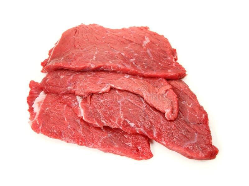 Frischer Rindfleisch Schnitzel stockbilder
