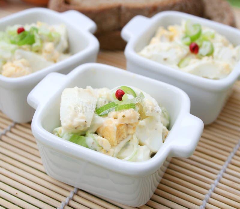 Frischer Salat der Eier stockfoto