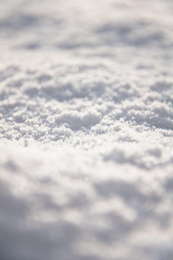 Frischer Schnee aus den Grund stockfotografie
