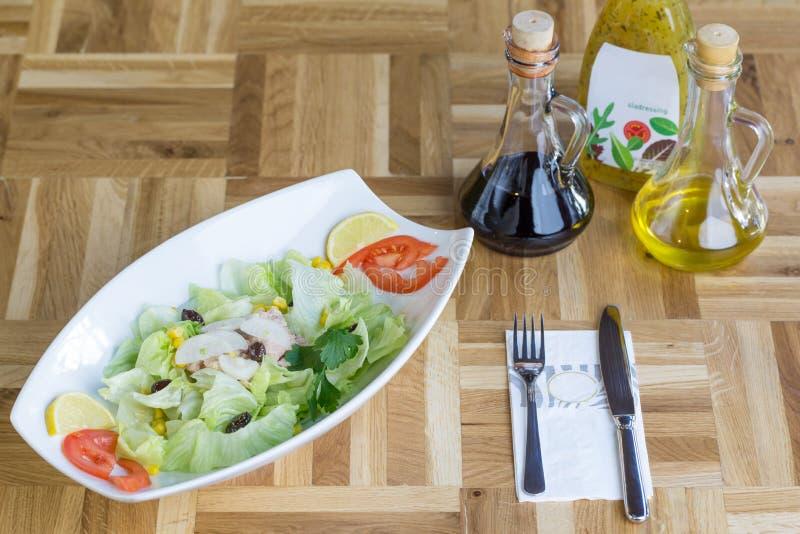 Frischer Thunfisch-Salat lizenzfreies stockfoto