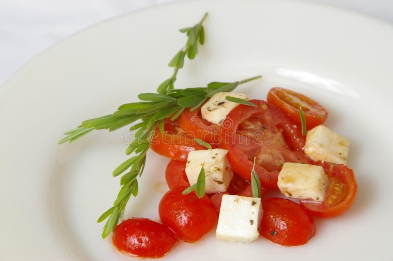 Frischer Tomate-Salat 2 stockbilder