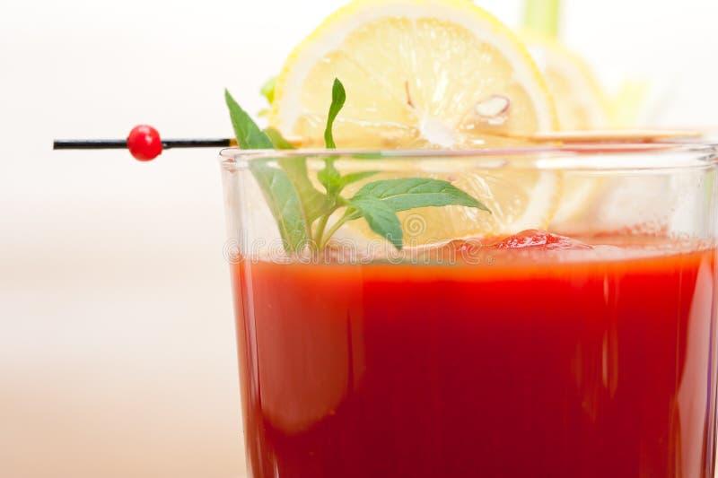 Frischer Tomatesaft stockfotos