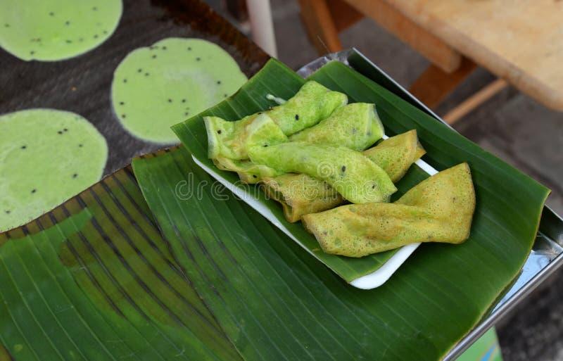 Frischer traditioneller Nachtisch in Thailand (Tong Muan) lizenzfreie stockfotos