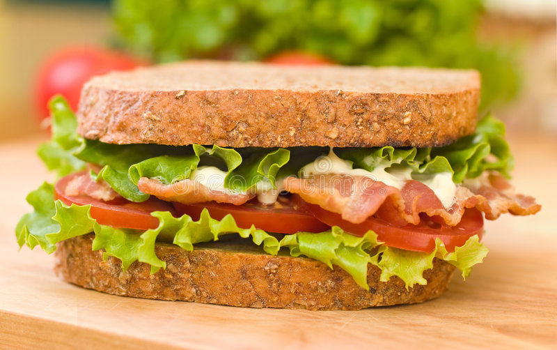 Frisches BLT Sandwich lizenzfreie stockbilder