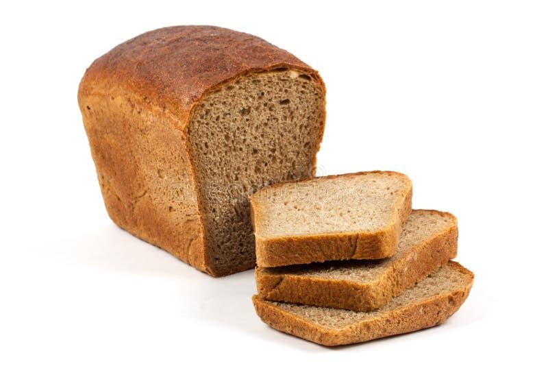 Frisches Brot getrennt auf Weiß lizenzfreies stockfoto