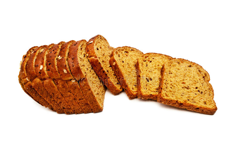 Frisches Brot lokalisiert, geschnitten?? Brot lizenzfreie stockfotografie
