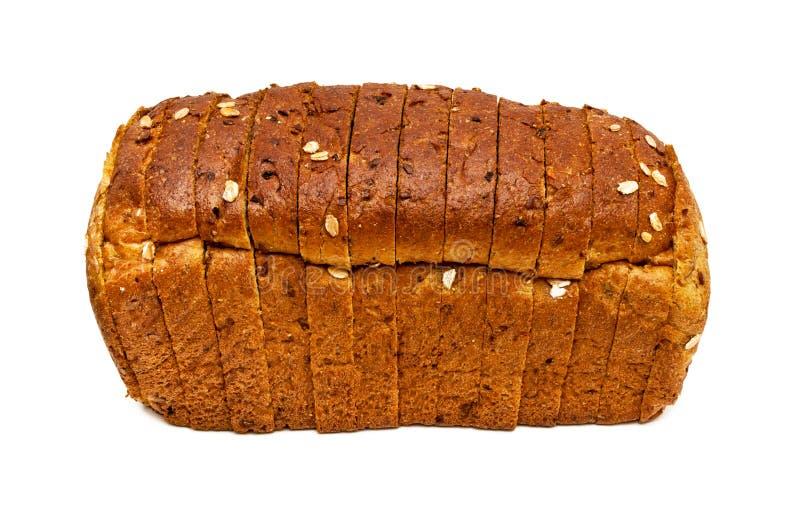 Frisches Brot lokalisiert, geschnittenes Brot lizenzfreies stockfoto
