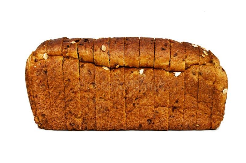 Frisches Brot lokalisiert, geschnittenes Brot lizenzfreies stockbild
