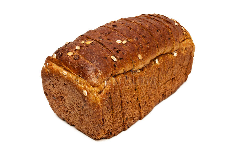 Frisches Brot lokalisiert, geschnittenes Brot stockbilder