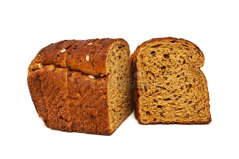 Frisches Brot lokalisiert, geschnittenes Brot stockfotos