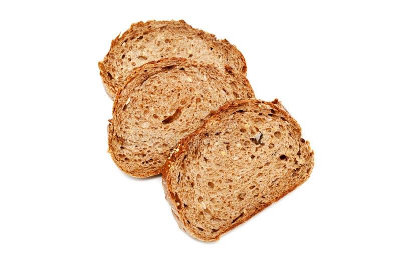 Frisches Brot lokalisiert, geschnittenes Brot stockbild