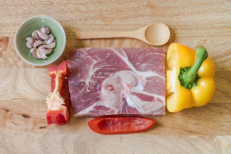 Frisches erstklassiges Schweinefleisch lizenzfreies stockbild