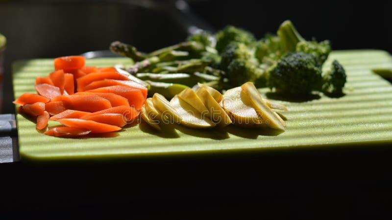 Frisches gehacktes Gemüse lizenzfreies stockbild