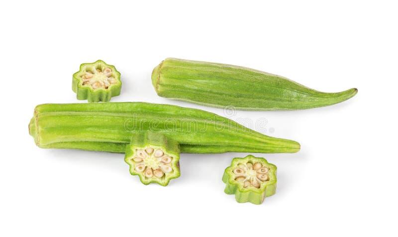 Frisches Gemüse des essbaren Eibisches stockfoto