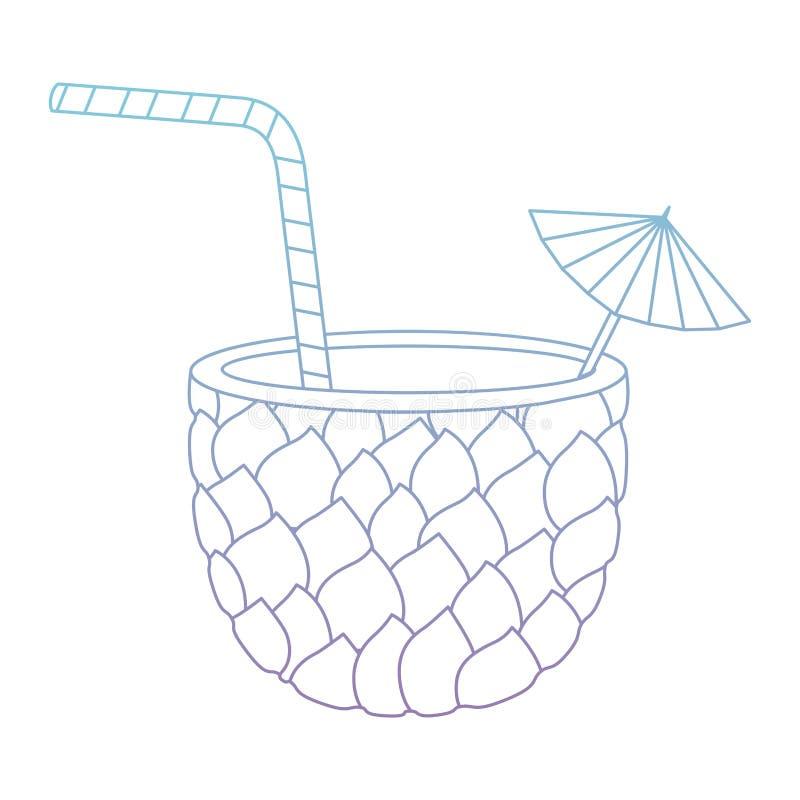 Frisches Getränkananascocktail stock abbildung