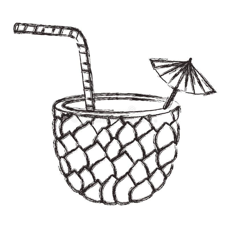 Frisches Getränkananascocktail vektor abbildung