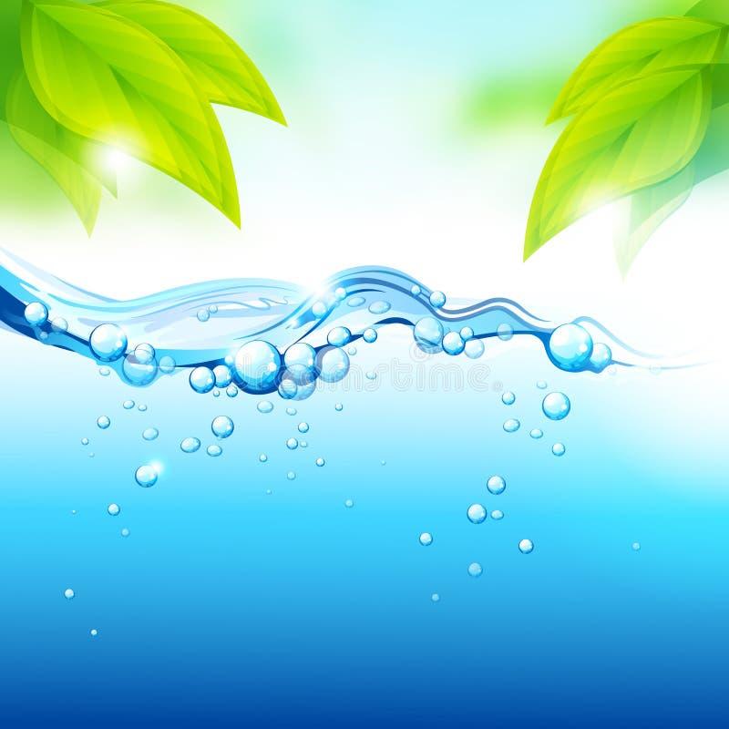 Frisches Mineralwasser stock abbildung