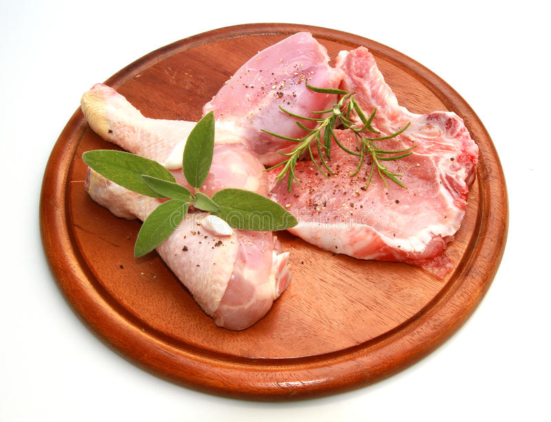 Frisches Mischungsfleisch lizenzfreies stockbild