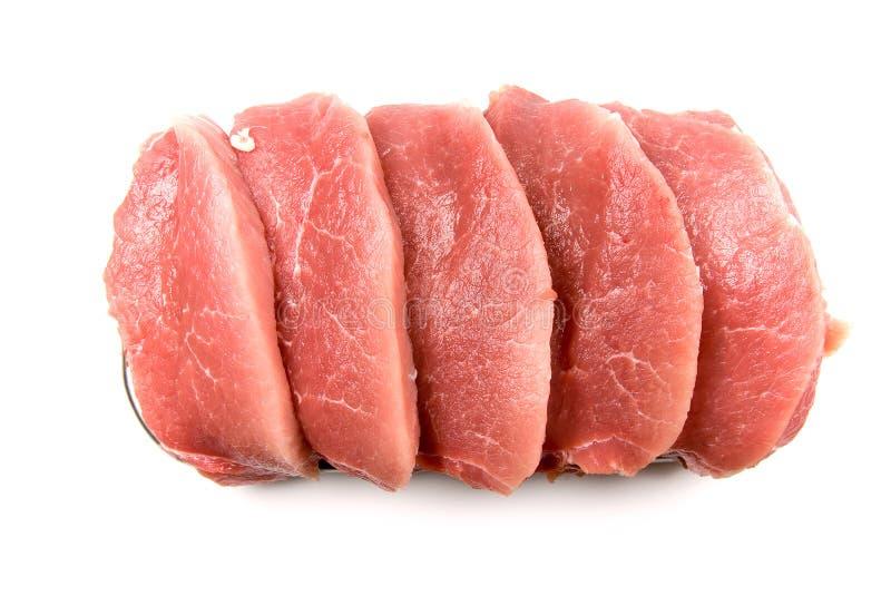 Frisches rohes Fleisch stockbild