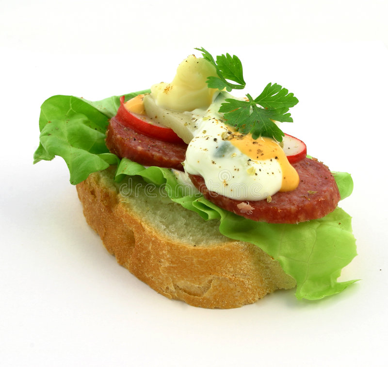 Frisches Sandwich stockfoto
