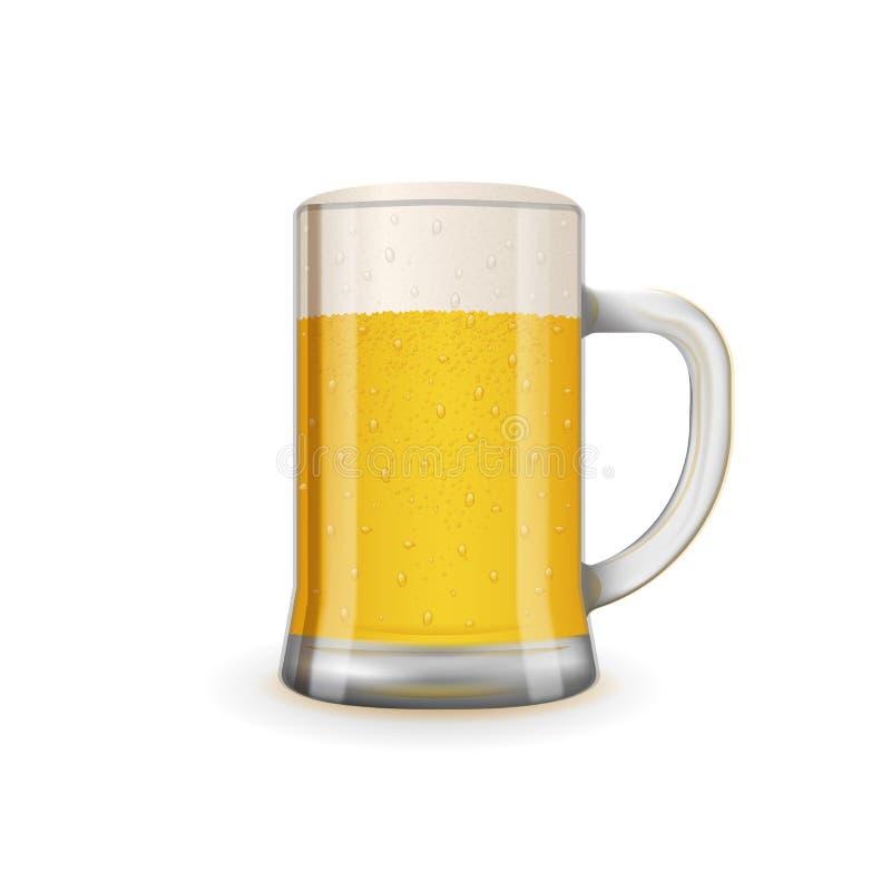 Frisches und geschmackvolles Glas Bier stock abbildung