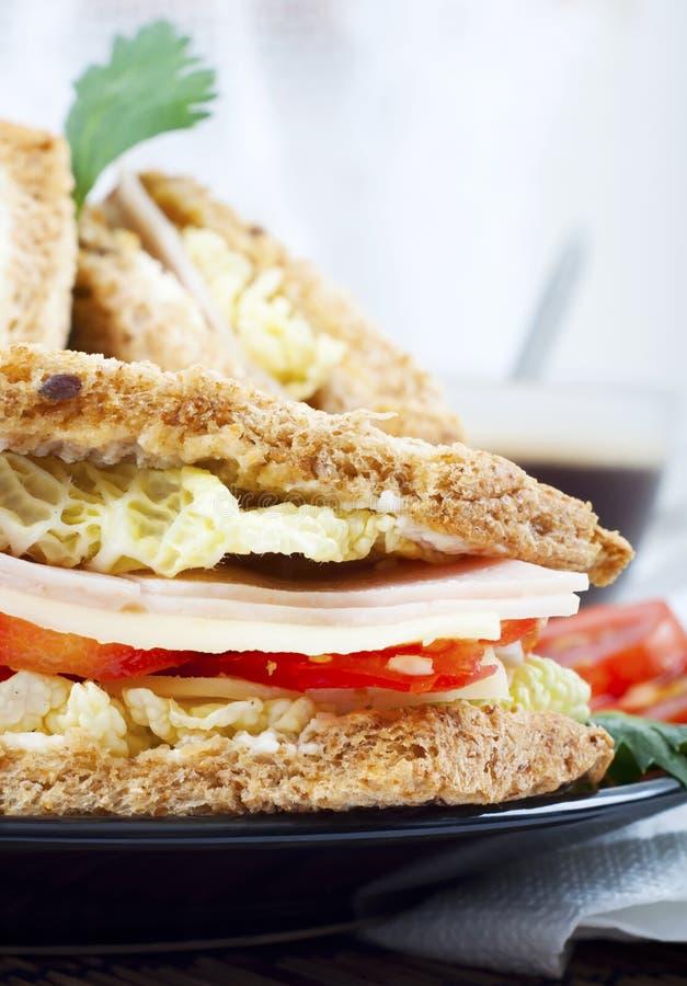 Frisches und köstliches klassisches Club Sandwich lizenzfreies stockbild