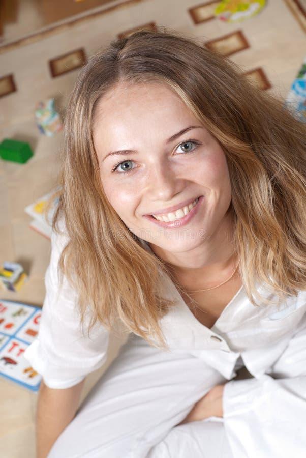 Frisches weibliches Portrait stockfoto