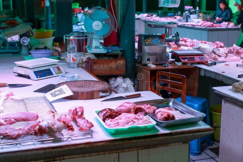 Frischfleischmarkt lizenzfreie stockfotografie