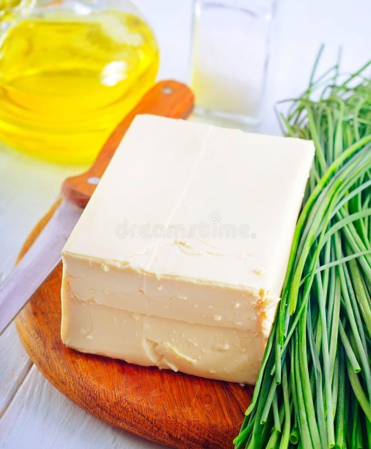 Download Frischkäse-Tofu stockfoto. Bild von teller, deli, bohne - 27728668