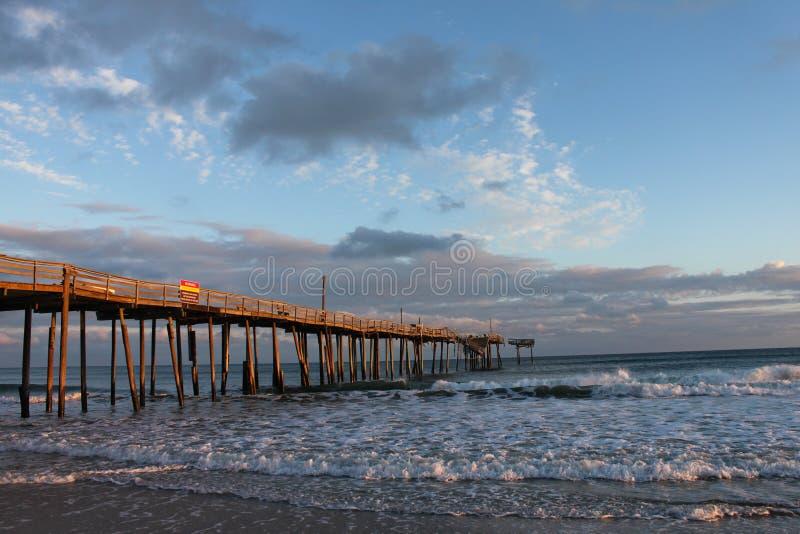 Frisco NC Fishing Pier stock image