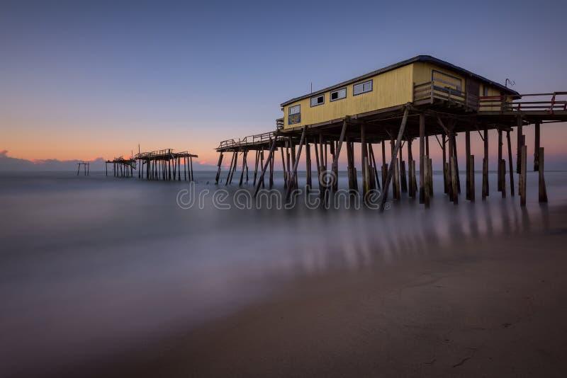 Frisco Pier, Outer Banks, North Carolina royalty free stock photo