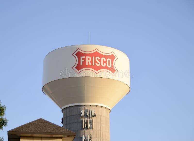 Frisco Texas Water Tower, Frisco, Tejas fotos de archivo libres de regalías
