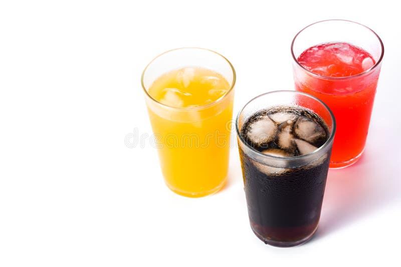 Frisdranken voor geïsoleerde de zomer royalty-vrije stock afbeelding
