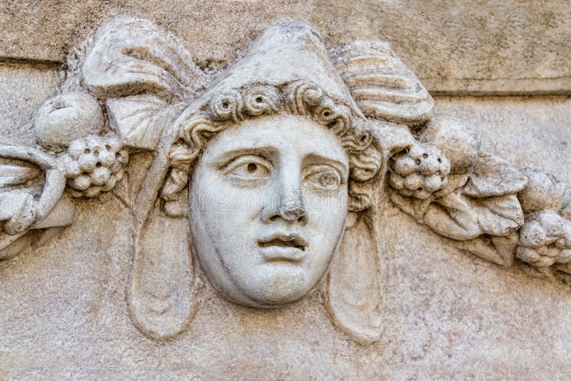 Frise dans les Aphrodisias image stock