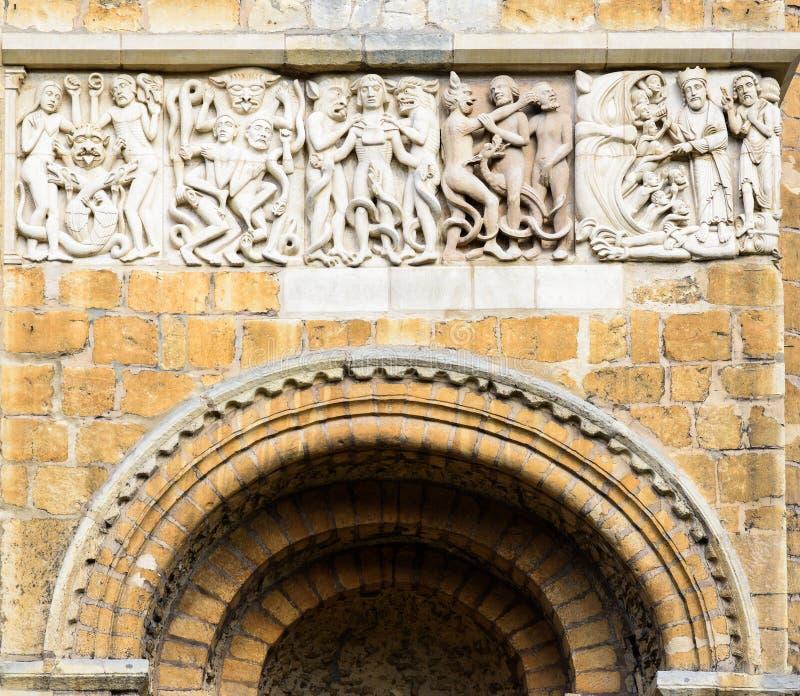 Frise de cathédrale de Lincoln images libres de droits