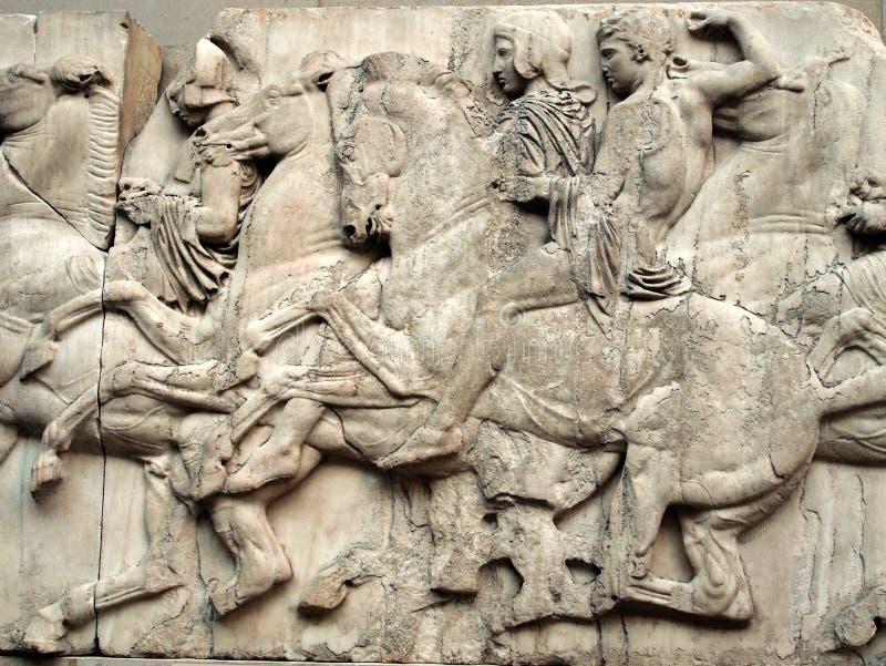 Frise de parthenon, Elgin Marbles image stock