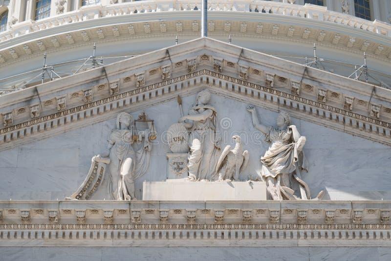 Frise du capitol des USA chez Washngton D C images libres de droits