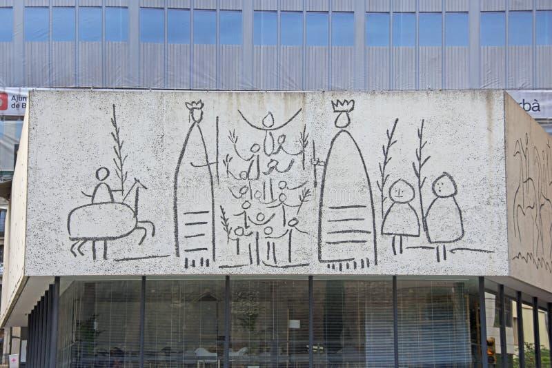 Frise par Pable Picasson image libre de droits