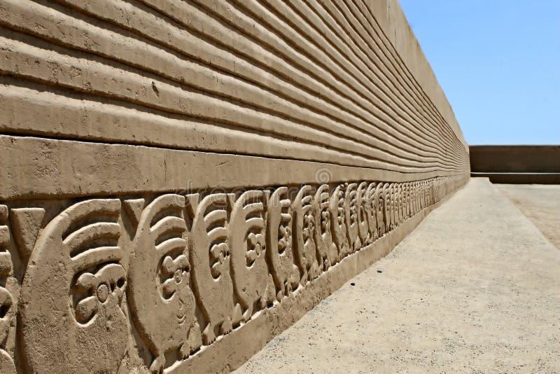 Frises de mur de Chan Chan image libre de droits