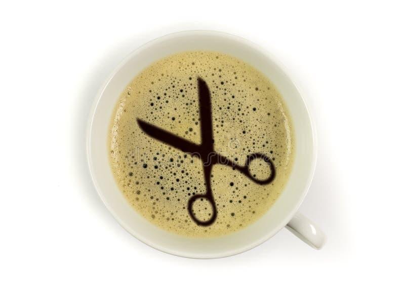 Friseur bietet Kaffee an lizenzfreie stockfotos
