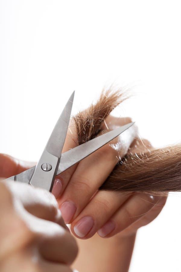 Friseurausschnitthaar stockfoto