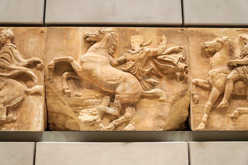 Friso del museo de la acrópolis ningún 8 imagen de archivo libre de regalías