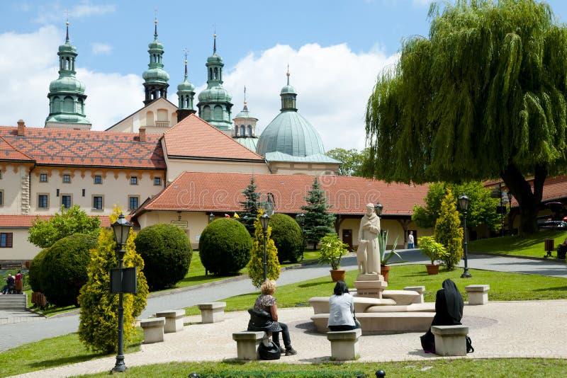 Fristad av Kalwaria Zebrzydowska - Polen arkivbilder