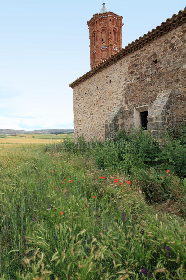 Fristad av Oskuld del Campo Camarillas Teruel Aragon royaltyfri foto