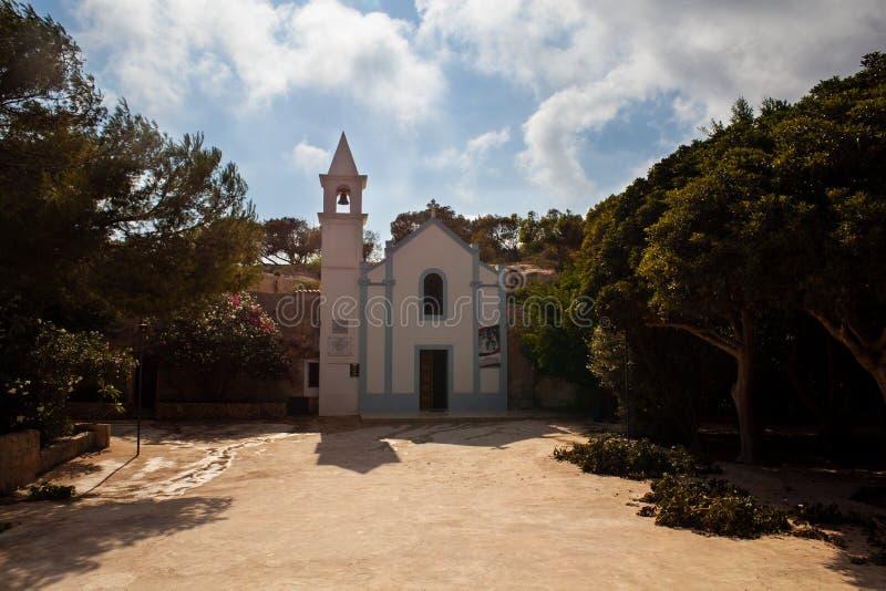 Fristad av patentlösningSignoradi Lampedusa arkivbild
