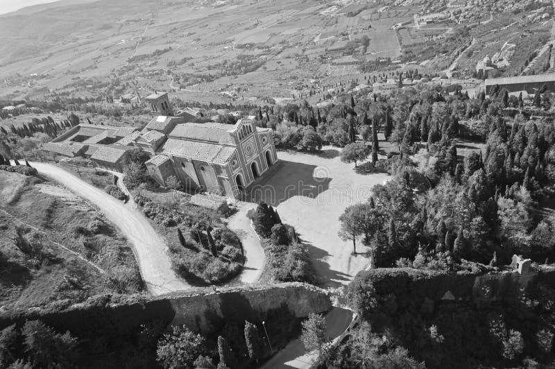 Fristad av Santa Margherita i Cortona royaltyfria foton