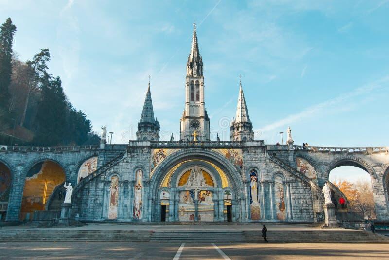 Fristad av vår dam av Lourdes fotografering för bildbyråer