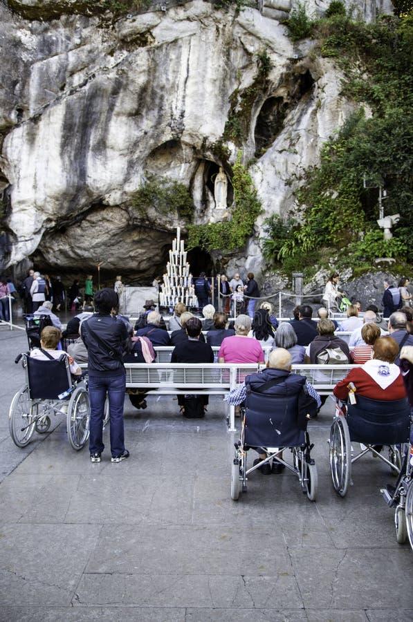 Fristad av vår dam av Lourdes royaltyfri fotografi