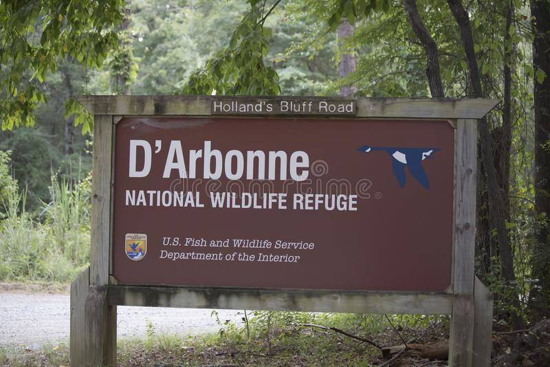 Fristad för D-`-Arbonne nationell djurliv arkivfoton