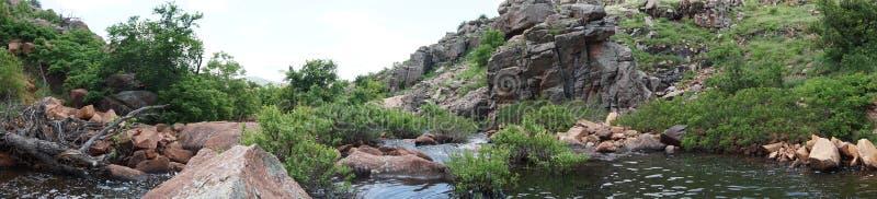 Fristad för Wichita bergdjurliv Lawton Oklahoma arkivfoto